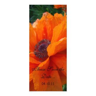 """Reserva anaranjada imponente de la amapola la invitación 4"""" x 9.25"""""""