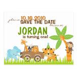 Reserva animal de encargo del safari la fecha postal