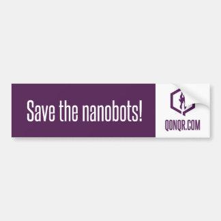 Reserva anónima el Nanobots Etiqueta De Parachoque