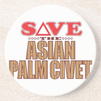 Reserva asiática de la civeta de palma posavasos personalizados