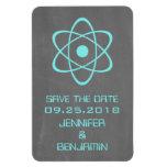 Reserva atómica de la pizarra el imán de la fecha,