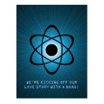 Reserva atómica la postal de la fecha, azul