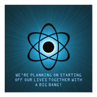 """Reserva atómica que la fecha invita, azul invitación 5.25"""" x 5.25"""""""
