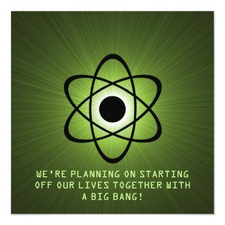 """Reserva atómica que la fecha invita, que se pone invitación 5.25"""" x 5.25"""""""