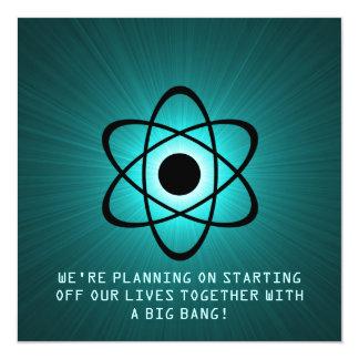 "Reserva atómica que la fecha invita, trullo invitación 5.25"" x 5.25"""