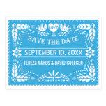 Reserva azul del boda de los pájaros del amor del tarjetas postales