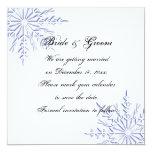 Reserva azul del boda del copo de nieve la comunicados personales
