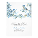 Reserva azul del boda del invierno de los pájaros