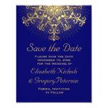 Reserva azul del boda del invierno del copo de comunicado personal