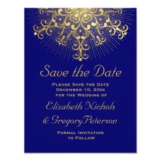 """Reserva azul del boda del invierno del copo de invitación 4.25"""" x 5.5"""""""