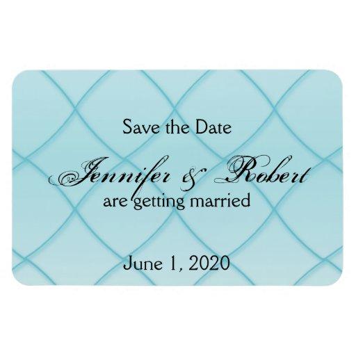 Reserva azul del boda del modelo del diamante de imanes flexibles