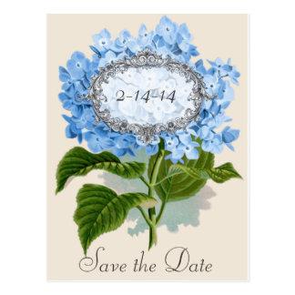 Reserva azul del marco del Hydrangea del vintage Postal