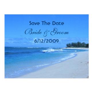 Reserva azul del océano la postal de la fecha