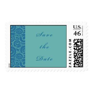 Reserva azul del remolino el sello de fecha