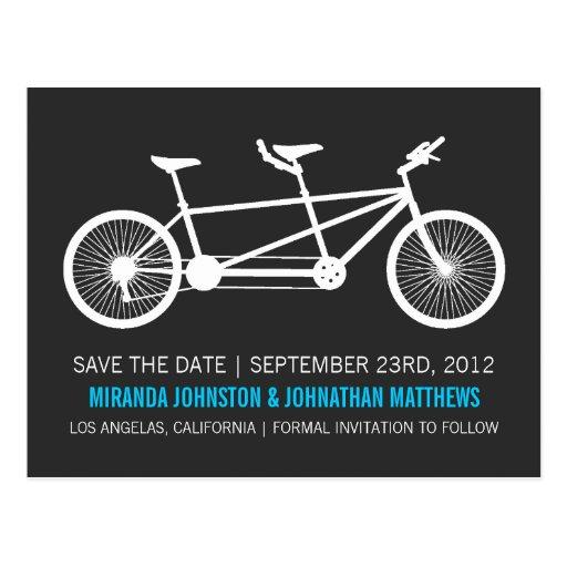Reserva azul del texto de la bicicleta las postale tarjeta postal
