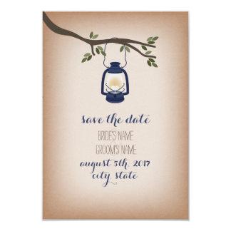 """Reserva azul inspirada de papel de tarjetas de la invitación 3.5"""" x 5"""""""