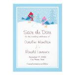 Reserva azul linda del boda del invierno de los pá