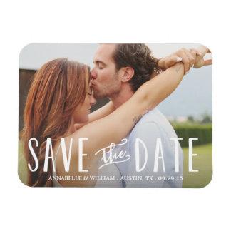 Imanes con diseños para reservar la fecha de la boda en Zazzle