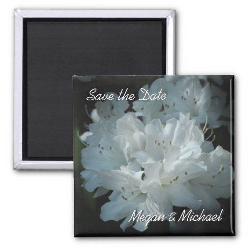 Reserva blanca de la azalea el imán de la fecha
