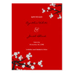 Reserva blanca de Sakuras la postal de la invitaci