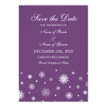 Reserva blanca del boda del invierno del ciruelo invitaciones personales