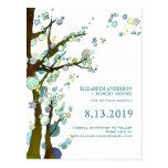 Reserva blanca del boda del tema único del árbol postal