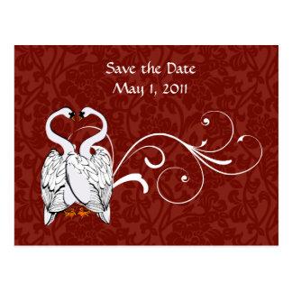 Reserva blanca del cisne la fecha postal