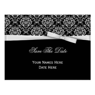 Reserva blanca negra de la cinta del arco de la pl tarjetas postales