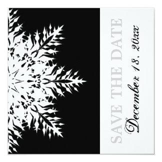 Reserva blanca negra del boda del invierno del invitación personalizada