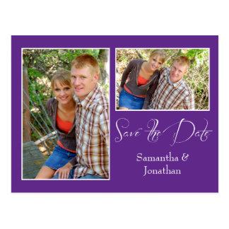 Reserva blanca púrpura moderna del collage de la f postal