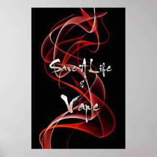 Reserva blanca roja del humo una vida y una póster
