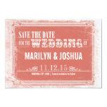 reserva blanca rosada del vintage las invitaciones invitación personalizada