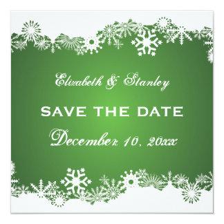 Reserva blanca verde del boda del invierno del invitaciones personalizada