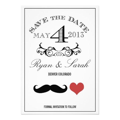 Reserva blanca y negra del DÍA de boda del bigote  Anuncio