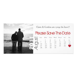 Reserva blanca y roja de agosto del calendario la invitaciones personalizada