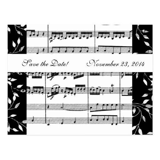 Reserva blanco y negro de la música de Mozart la Tarjetas Postales