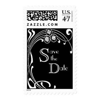 Reserva blanco y negro el art déco de la fecha timbres postales