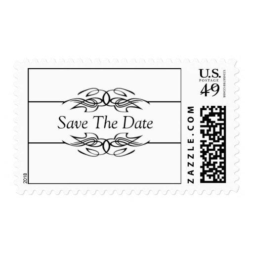 Reserva blanco y negro los sellos de fecha