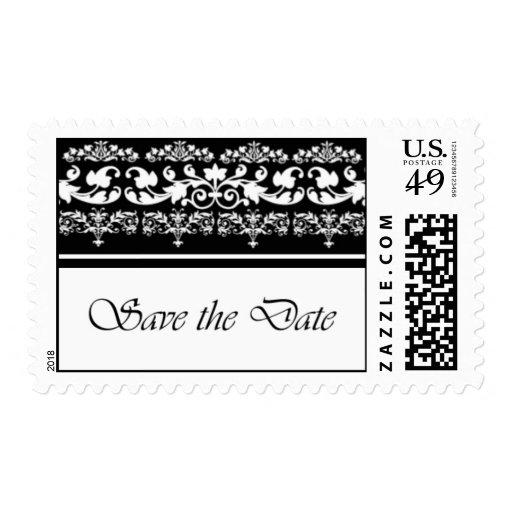 Reserva blanco y negro real el franqueo de la fech timbres postales