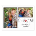 Reserva blanco y negro roja del collage de la foto postales