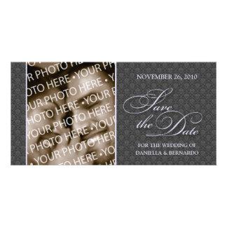 Reserva bonita del damasco la tarjeta de la foto d tarjetas con fotos personalizadas
