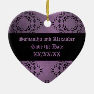 Reserva casual del damasco púrpura sucio gótico la adorno de navidad
