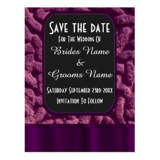 Reserva céltica púrpura del nudo la fecha tarjeta postal