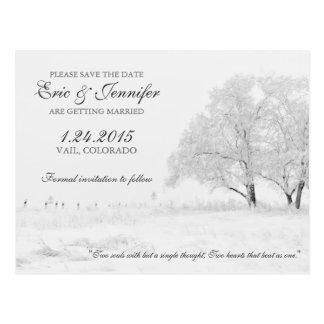 Reserva clásica del boda de las nevadas del invier postales