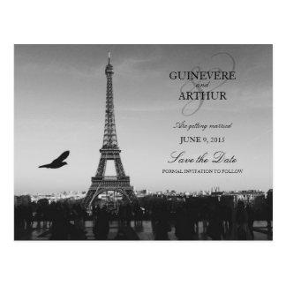 Reserva clásica del boda de París Francia la fecha Postal