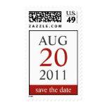 Reserva clásica del calendario el sello de la fech