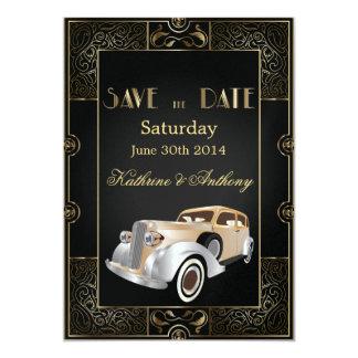 Reserva clásica del estilo de Gatsby del vintage Comunicados Personales