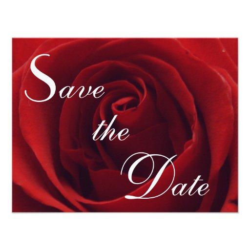 Reserva clásica del rosa rojo la invitación del bo
