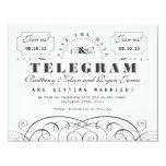 Reserva clásica del telegrama la fecha comunicados personales