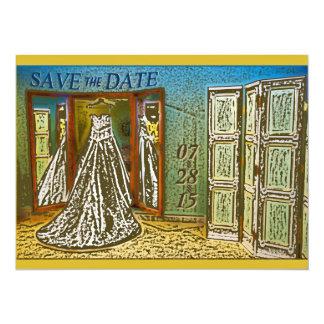 Reserva colgante elegante del vestido de boda la comunicado personal
